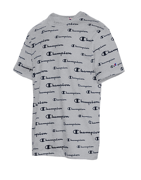 Champion Men's Sportstyle Tee, All Over Logo