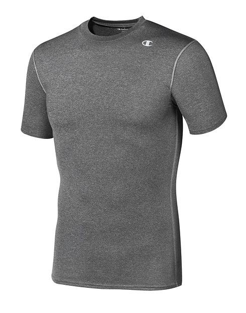Champion Double Dry® Short-Sleeve Men's Compression T Shirt