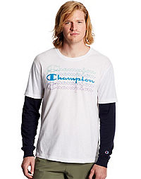 Champion Men's Jersey 2-Fer Tee