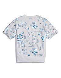 aac3bb99 Champion Life® Men's Reverse Weave™ Short-Sleeve Crew, Allover Logo