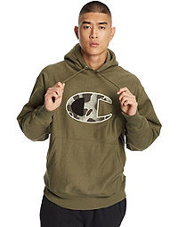 Champion Life® Men's Reverse Weave® Camo Hoodie, Chenille & Mixed C Logo