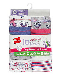 Hanes Toddler Girls'  EcoSmart™ Hipsters 10-Pack