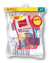 Hanes Toddler Girls' Cotton Briefs 10-Pack