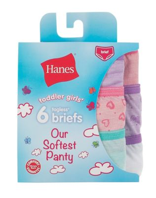 Hanes Toddler Girls' Softest Panty Briefs 6-Pack