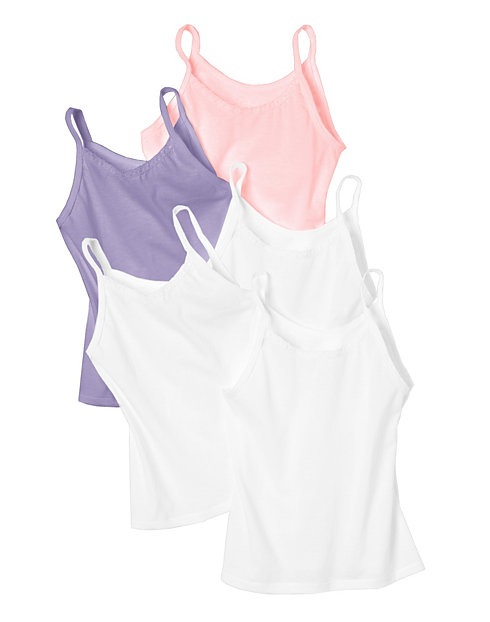 Hanes Toddler Girls' Cami Assorted 5-Pack