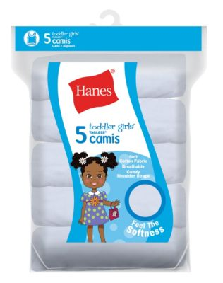 Hanes TAGLESS® Toddler Girls' Cami White 5-Pack