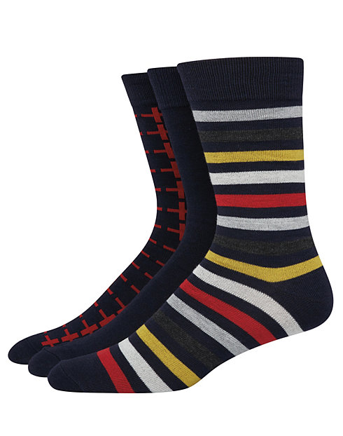 Hanes Ultimate™ Men's FreshIQ™ Men's Assorted Dress Socks 3-Pack
