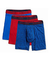 Hanes Ultimate™ Men's Comfort Flex Fit® Cotton/Modal Boxer Briefs Assorted Colors 3-Pack