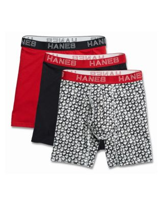 Hanes Ultimate™ Men's Comfort Flex Fit® Cotton/Modal Boxer Briefs Assorted 3-Pack