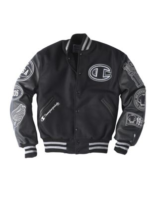 Exclusive Champion Life® Men's Wool Varsity Jacket With Leather Sleeves