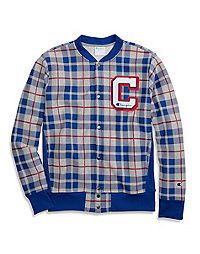 Champion Life® Men's Reverse Weave® Plaid Baseball Jacket