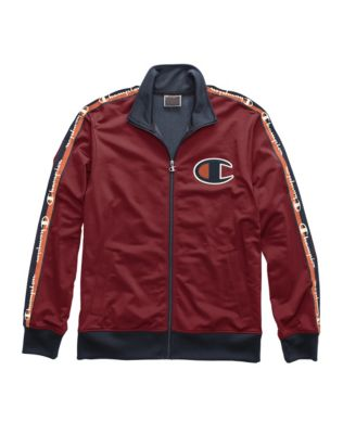 Champion Life® Men's Track Jacket, Big C & Logo Taping