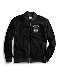 Champion Men's Heritage Sherpa Jacket, Felt Block C Logo