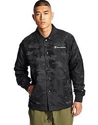 Champion Life® Men's Camo Coaches Jacket, Block Arch Logo
