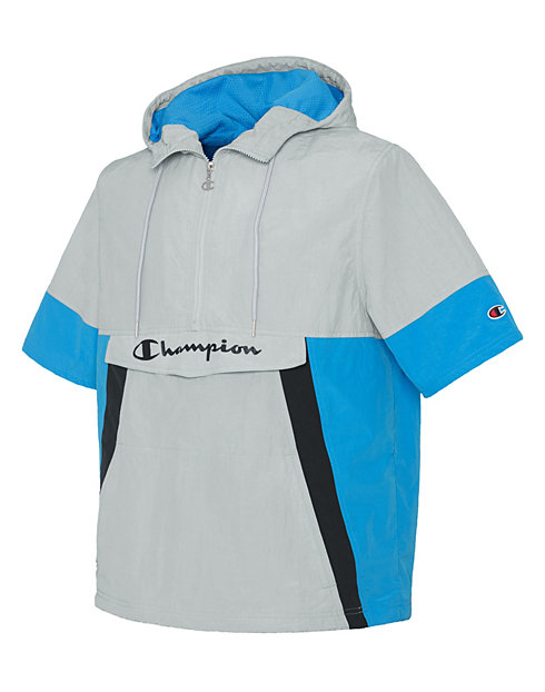 Champion Life® Men's Woven Anorak Short-Sleeve Jacket