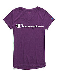 Champion Women Authenic Wash Tee, Two-Color Logo