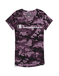 Champion Women's Authentic Wash Tee, White Logo
