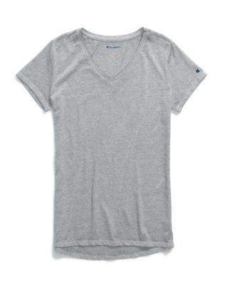 Champion Women's Authentic Wash V-Neck Tee