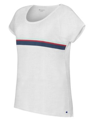 Champion Women's Authentic Wash Fashion Tee With Stripes