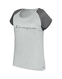 Champion Women's Authentic Wash Fashion Tee, Script Logo