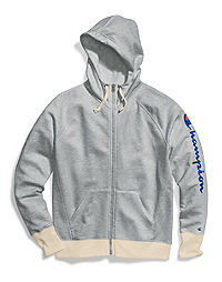 Champion Women's Powerblend® Zip Hoodie, Vertical Logo