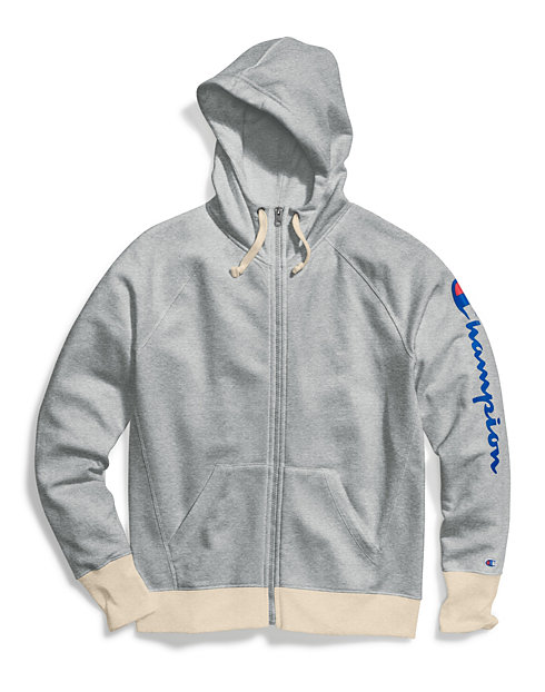 Champion Women's Powerblend® Zip Hoodie, Vertical Logo