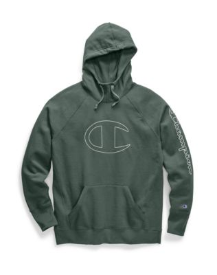 Champion Women's Powerblend® Fleece Pullover Hoodie, C Logo