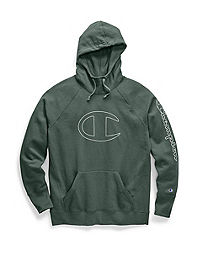 Champion Women's Powerblend® Fleece Pullover Hoodie, C Logo