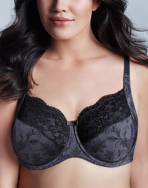 c7ea5a2b861 Image for WonderBra Printed Full Support Underwire Lace Top Cup Bra from  WonderBra