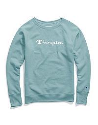Champion Women's Powerblend® Boyfriend Crew, Script Logo