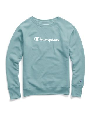 Champion Women's Powerblend® Boyfriend Crew, Script Logo by Champion