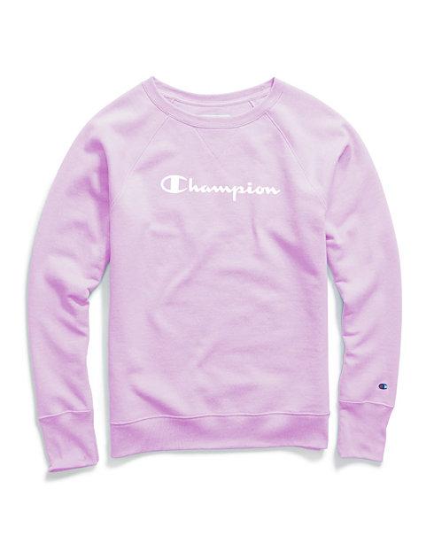 4d88c2088705 Champion Women's Powerblend® Boyfriend Crew, Script Logo | Champion