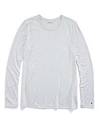 Champion Women's Jersey Long-Sleeve Stripe Tee