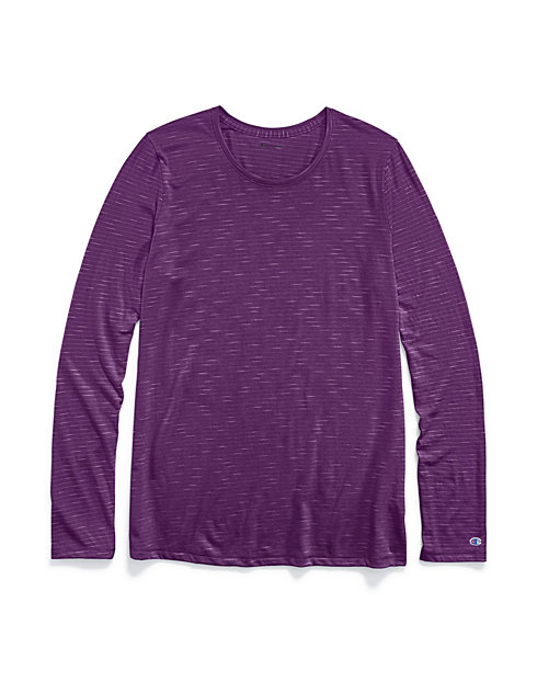 Champion Women's Jersey Long-Sleeve Stripe Tee