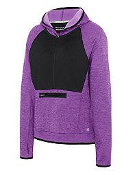 Champion Women's Premium Tech Fleece Half Zip Hoodie