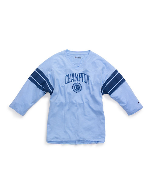 Champion Women's Heritage Football Tee, Collegiate Logo
