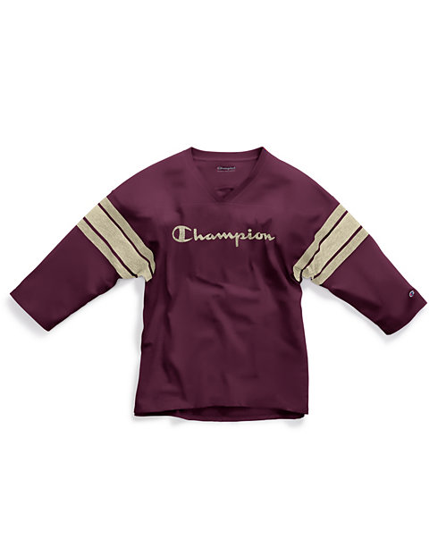 Champion Women's Heritage Football Tee, Script Logo