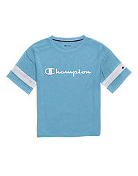 Champion Women's Phys. Ed. Football Tee, Script Logo