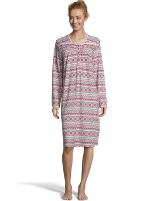 Hanes Butter Knit Women's Long Sleep Gown