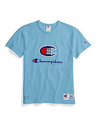 Champion Century Collection Women's Tee, C100 Chenille Logo