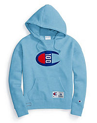 Champion Century Collection Women's Hoodie, C100 Felt Logo