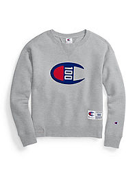 Champion Century Collection Women's Crew, C100 Felt Logo