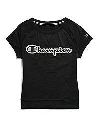 Champion Women's Tee, Script Logo