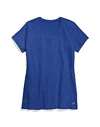 Champion Women's Jersey V-Neck Stripe Tee