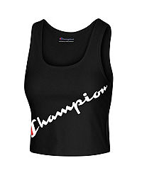 Champion Women's Authentic Crop Top, Script Logo