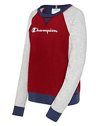 Champion Women's Heritage French Terry Crew, Script Logo