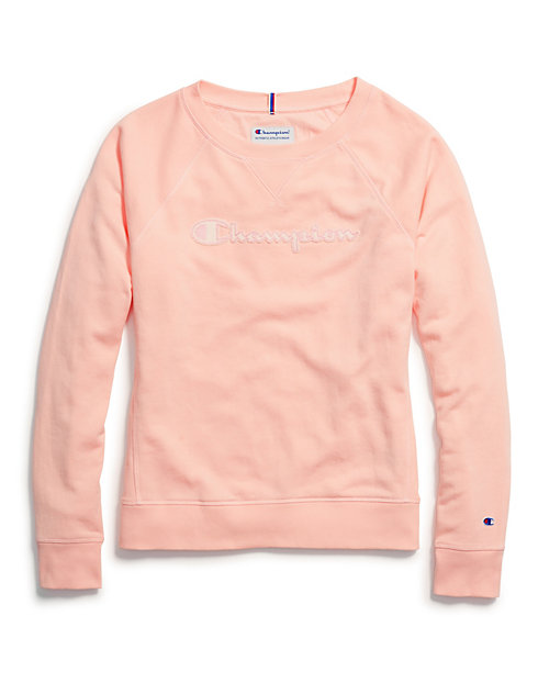 58993b6b2 Champion Women's Heritage French Terry Crew, Chainstitch Logo | Champion
