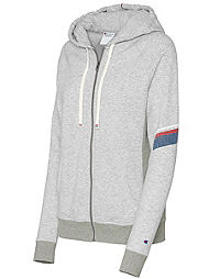 Champion Women's Heritage French Terry Zip Hoodie With Stripes