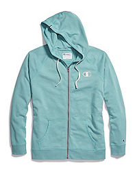 Champion Women's Heritage French Terry Zip Hoodie, Chainstitch C Logo