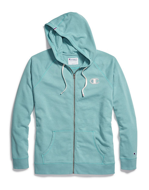 11a6937a0a2 Champion Women's Heritage French Terry Zip Hoodie, Chainstitch C Logo |  Champion